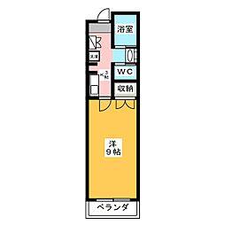 MJハイツ[3階]の間取り