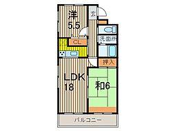 カーサ丸幸[3階]の間取り