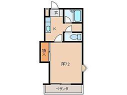 ハニカム4[1階]の間取り