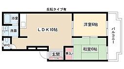 愛知県尾張旭市瀬戸川町2丁目の賃貸アパートの間取り