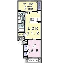 カーサ デ ラ リベラ 3階3LDKの間取り