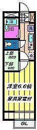 東京都江戸川区西一之江1丁目の賃貸アパートの間取り