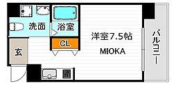 ORIENTCITY・M 9階ワンルームの間取り