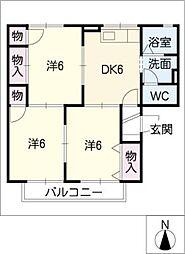 セジュール勇[2階]の間取り