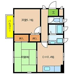 パセオグリーンA・B[2階]の間取り