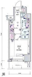 リヴシティ横濱宮元町[803号室]の間取り