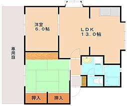 パルハイムA[1階]の間取り
