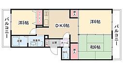 テルトアップマンション[205号室]の間取り