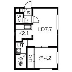 Southern Spot(サザンスポット)[2階]の間取り