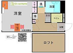 神奈川県相模原市南区東大沼4の賃貸アパートの間取り