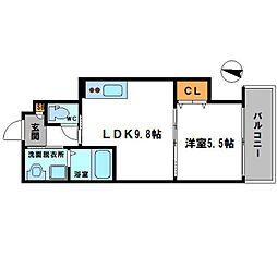 セレニティ八雲北町2丁目A棟 3階1LDKの間取り
