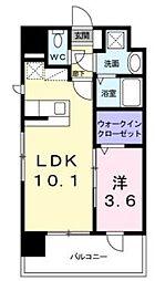 JR篠栗線 柚須駅 徒歩13分の賃貸マンション 7階1LDKの間取り