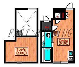 京王井の頭線 駒場東大前駅 徒歩11分の賃貸マンション 1階1SKの間取り