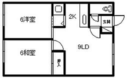 田宮マンション[201号室]の間取り