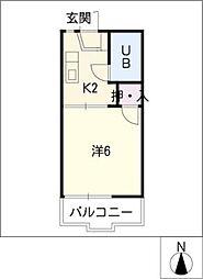 コーポ春木台[1階]の間取り