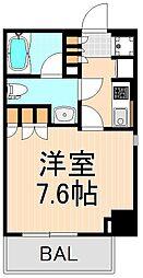 パークアクシス上野松が谷[6階]の間取り