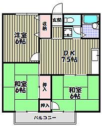 ハイツ藤沢[2階]の間取り
