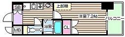 ラナップスクエア天満プライム[7階]の間取り