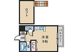大阪府豊中市千里園1丁目の賃貸マンションの間取り