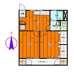コーポ宮川[2-A号室]の間取り