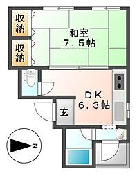 九里東ビル[3階]の間取り