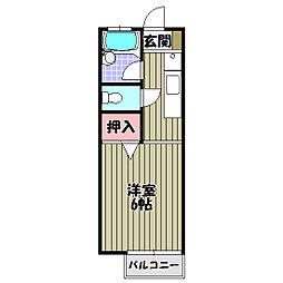 パークハイツ向陽台[2階]の間取り