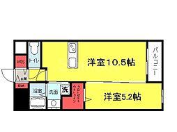 大阪府堺市堺区神明町東1丁の賃貸マンションの間取り