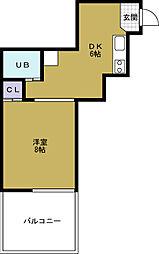 第三倉本ビル[4階]の間取り