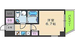 SERENiTE本町reflet 12階1Kの間取り