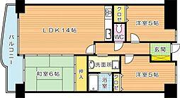 エクレール桃園公園(分譲賃貸)[8階]の間取り