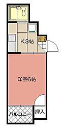 シャトレ菅原I[203号室]の間取り