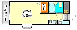 アピス東船橋[314号室]の間取り