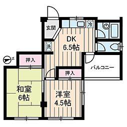 マリーハイム[4階]の間取り