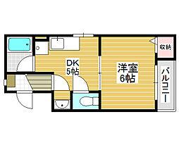 堺ハザマコーポ[4階]の間取り