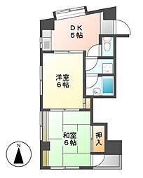 愛知県名古屋市中村区太閤通8丁目の賃貸マンションの間取り