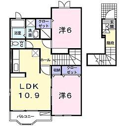 エトワール VIII[2階]の間取り