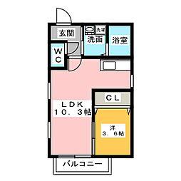 Neplus Y[1階]の間取り