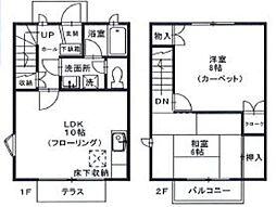 小平タウンハウス[1階]の間取り