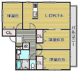 モンレアーレ[2階]の間取り