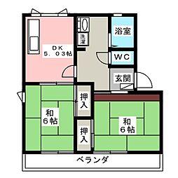 メゾン小杉 B[2階]の間取り