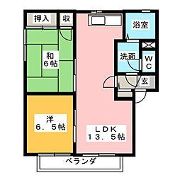 ザ・ミレニアム  A棟[2階]の間取り