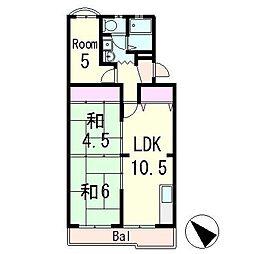 サニーハイツピア[2階]の間取り