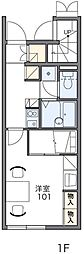 JR奥羽本線 横手駅 徒歩9分の賃貸アパート 1階1Kの間取り