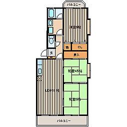 メゾン鹿島II[401号室]の間取り