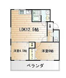 リ・ボーン片野[3階]の間取り