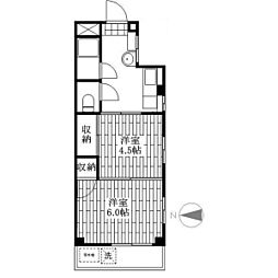コーポヤマタケ[1階]の間取り