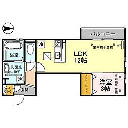 セジュールWill[1階]の間取り
