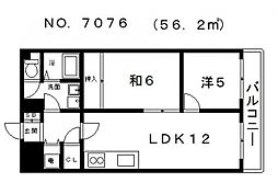 生魂マンション[4階]の間取り