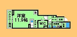 JR横浜線 相原駅 徒歩3分の賃貸アパート 1階ワンルームの間取り