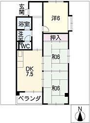 第2マンションイトキ[1階]の間取り